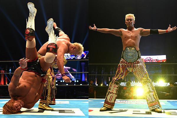 Risultati immagini per Wrestle Kingdom 12 Kazuchika Okada