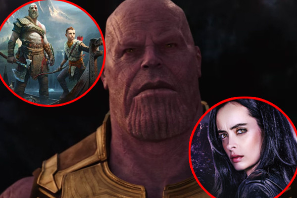 Avengers Infinity War God Of War Jessica Jones