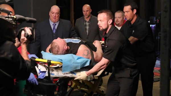 Brock Lesnar stretcher
