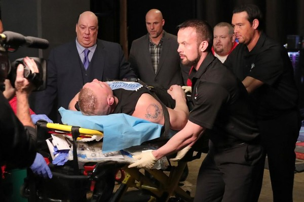 Brock Lesnar stretcher