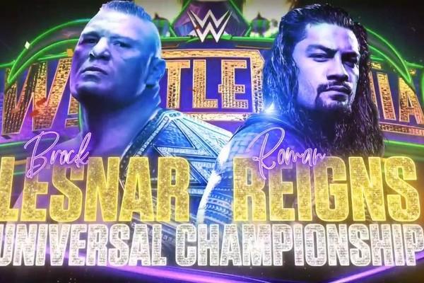 Brock Lesnar Roman Reigns WrestleMania 34