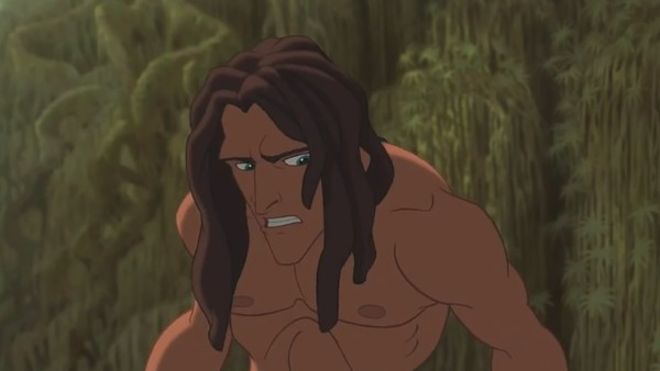 Disney Tarzan leopard fight aftermath no claw marks