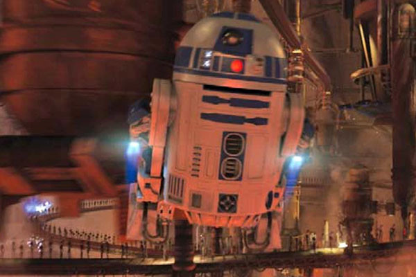 Star Wars R2D2 Flying