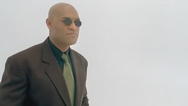 The Matrix Glasses Change Morpheus