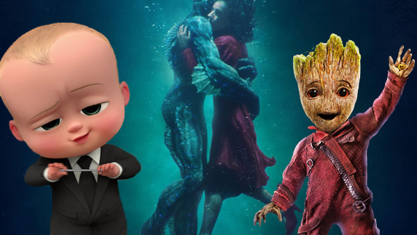 The Shape Of Water The Boss Baby Guardians Of The Galaxy Vol 2