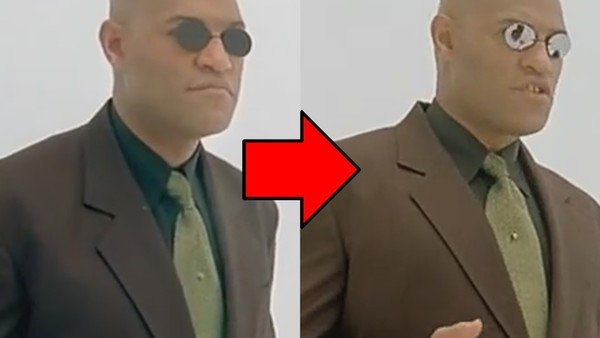 The Matrix Glasses Change Morpheus