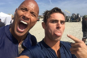 Baywatch The Rock Zac Efron