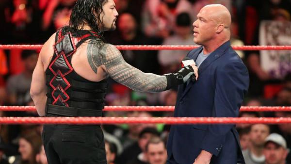 Roman Reigns Kurt Angle