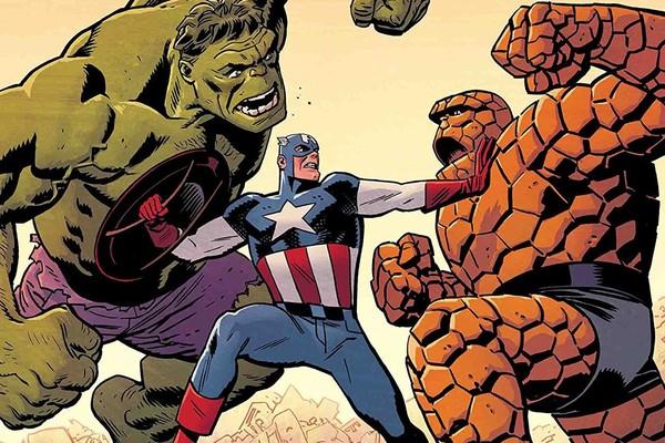 Captain America Hulk Thing