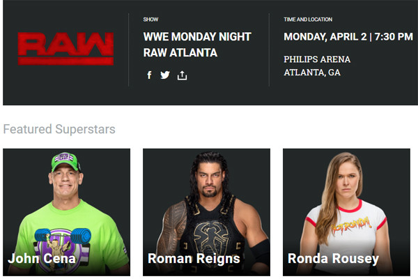 Ronda Rousey Listing