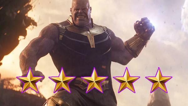 Thanos Infinity War Five Stars