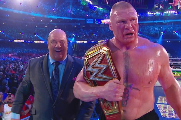 Image result for Brock Lesnar WrestleMania 34