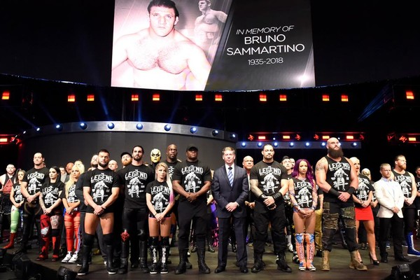 Image result for WWE honors Bruno Sammartino on RAW