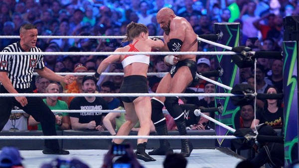Triple H Ronda Rousey WrestleMania 34