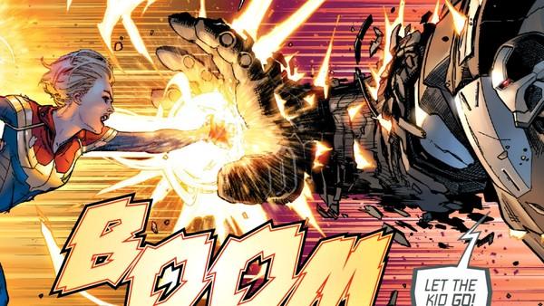 Captain Marvel Fights Iron Man