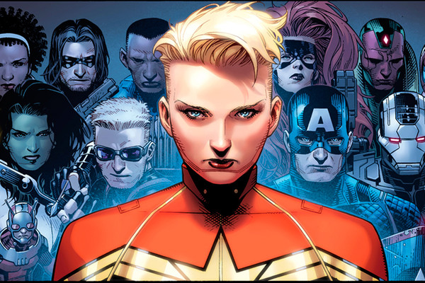 Captain Marvel Team Civil War