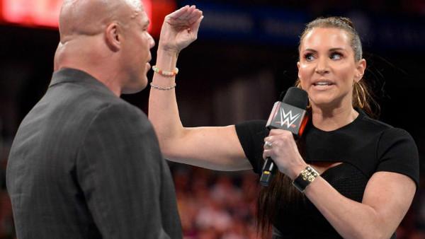 Kurt Angle Stephanie McMahon