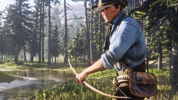 Red Dead Redemption 2 HUNTING Bow And Arrow