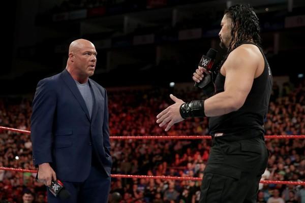Kurt Angle Roman Reigns