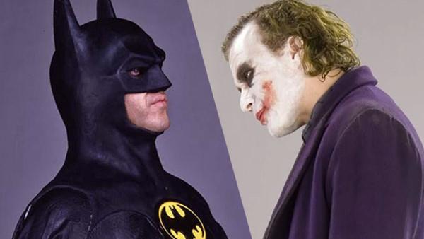 Michael Keaton Batman Heath Ledger Joker