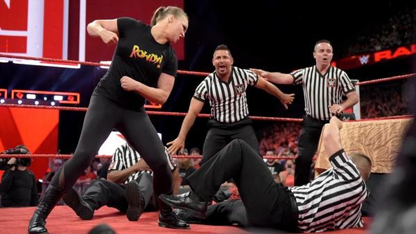 Ronda Rousey Refs Raw