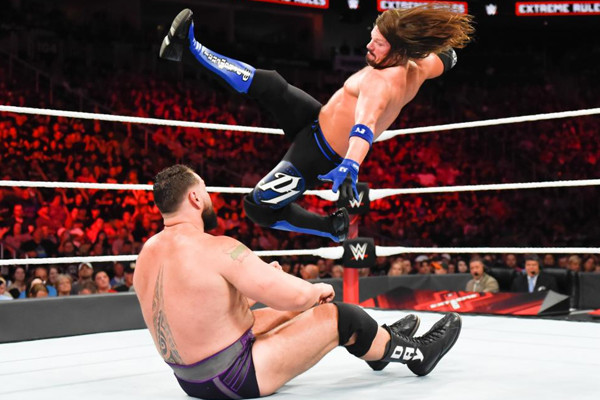 WWE Extreme Rules 2018 AJ Styles Rusev