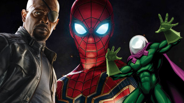 Mysterio, Spiderman and Nick Fury