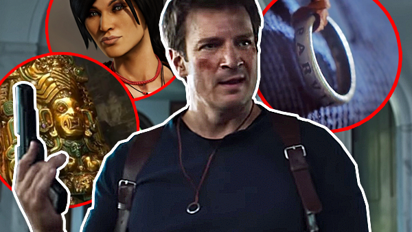 Nathan Fillion Uncharted Movie 14 Easter Eggs References Fans