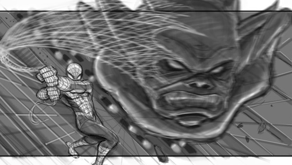 spider-man 4 storyboard gargoyle