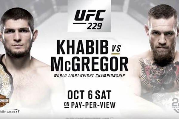 UFC 229 Khabib Vs Conor Fight Poster 750