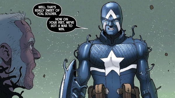 Venom Captain America Venomverse Suit