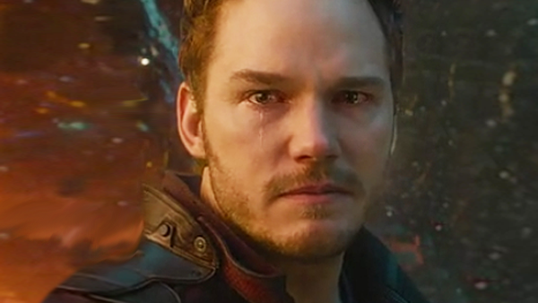 Guardians of the galaxy Star Lord Crying