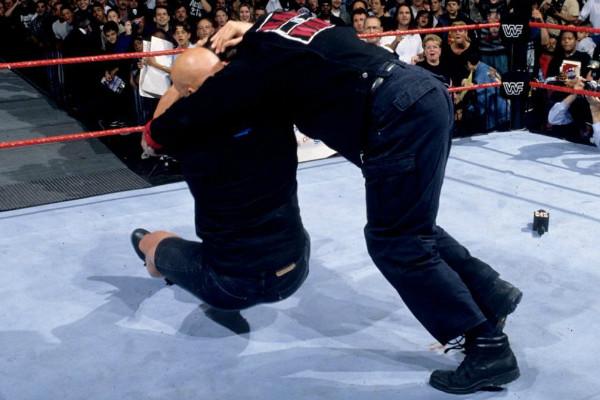 Steve Austin Vince McMahon Stunner