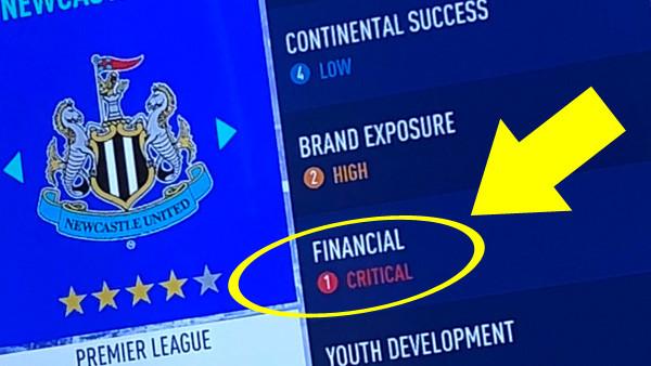 FIFA 19 NUFC Finances