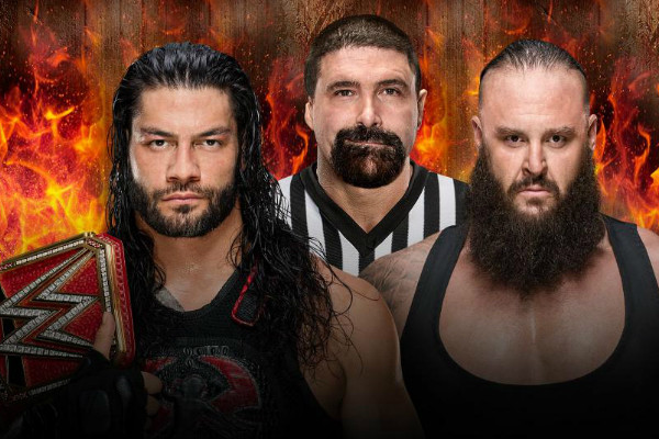 Braun Strowman Roman Reigns Mick Foley