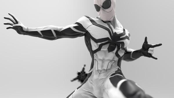 white spiderman