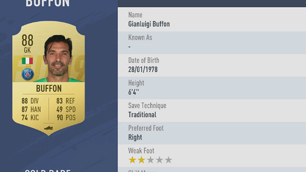 FIFA 19 Gianluigi Buffon