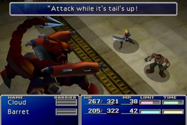Final Fantasy VII Attack While Its Tails Up