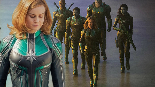 Captain Marvel Green Suit