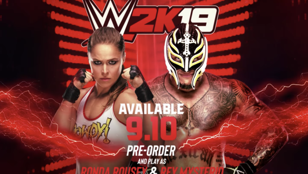 WWE 2K19 Rey Mysterio Ronda Rousey