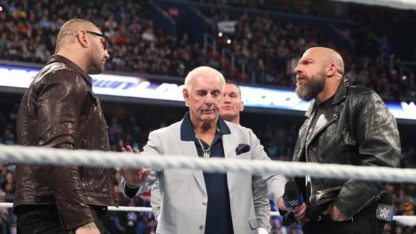Batista Ric Flair Triple H Evolution
