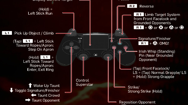WWE 2K19 PS4 Controls