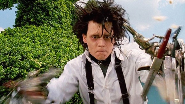 Edward Scissorhands, like Tim Burton, just can't reach out and touch others