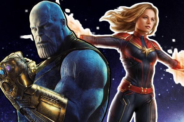 Captain Marvel Thanos Avengers 4