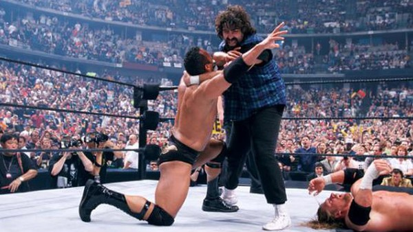The Rock Mick Foley WrestleMania 2000