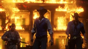 Red Dead Redemption 2 Braithwaite Manor Burning