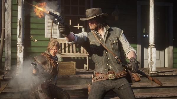 Red Dead Redemption 2 John Marston Sadie Adler