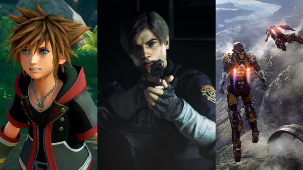 Kingdom Hearts 3 Resident Evil 2 Anthem