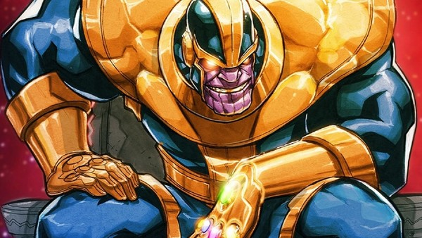 Thanos Comics Throne Avengers