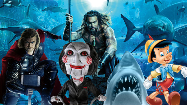 Aquaman Thor Saw Jaws Pinocchio